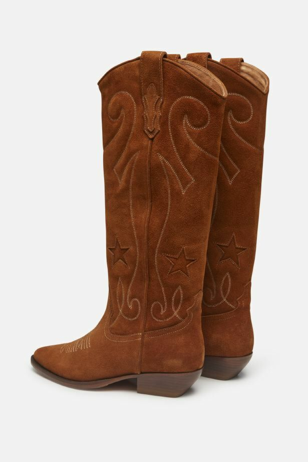 ROSEANNA COWBOY BOOTS IN NUBUCK LEATHER