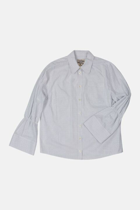 FITTED SHIRT, ELASTIC DETAILS