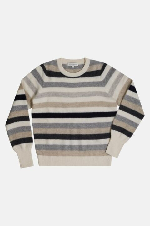 STRIPED CASHMERE SWEATSHIRT