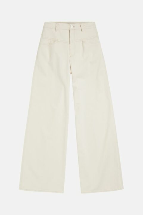 ECRU DEMIN WIDE TROUSERS