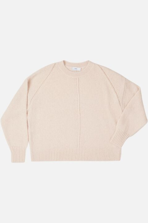 CREW NECK ALPACA BLEND SWEATER