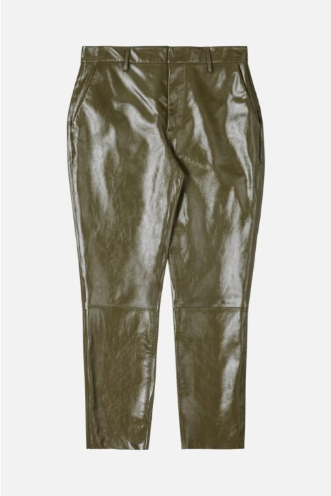 CHINO FIT LEATHER TROUSERS
