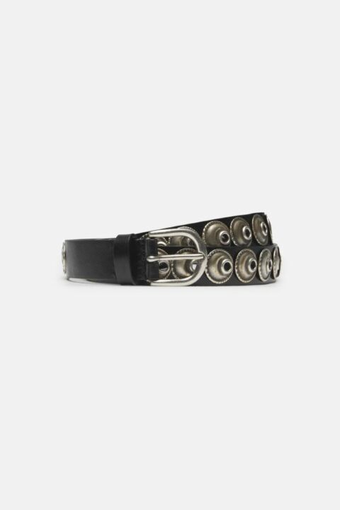 SMALL LEAHTER EYELET BELT