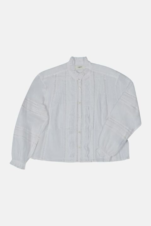 SHIRT WITH RUFFLES & BRODERIE