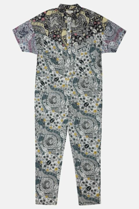 PRINTED COTTON JUMPSUIT