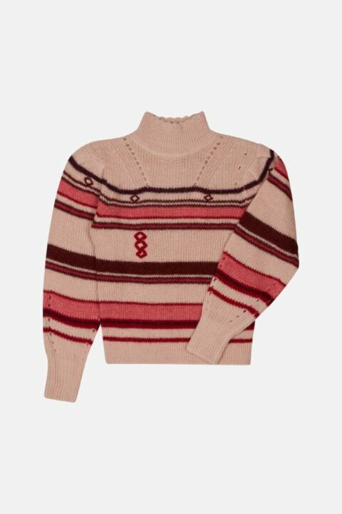 STRIPED ALPACA BLEND JUMPER