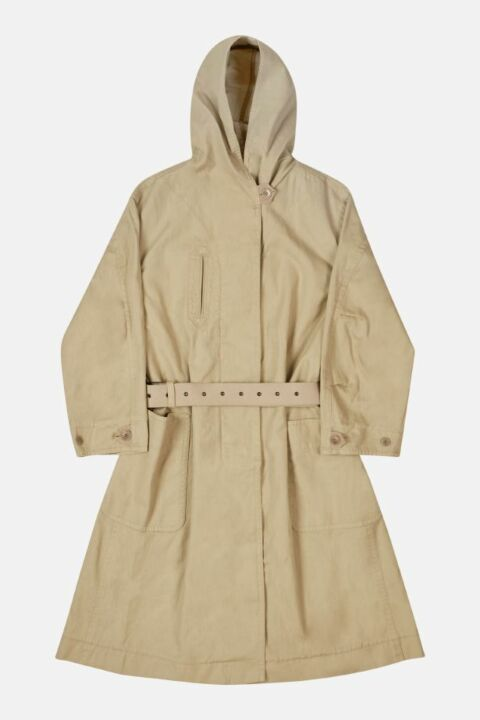 HOODED OVERSIZED COAT