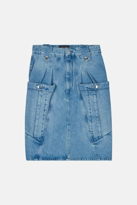 DENIM SKIRT WITH POCKETS