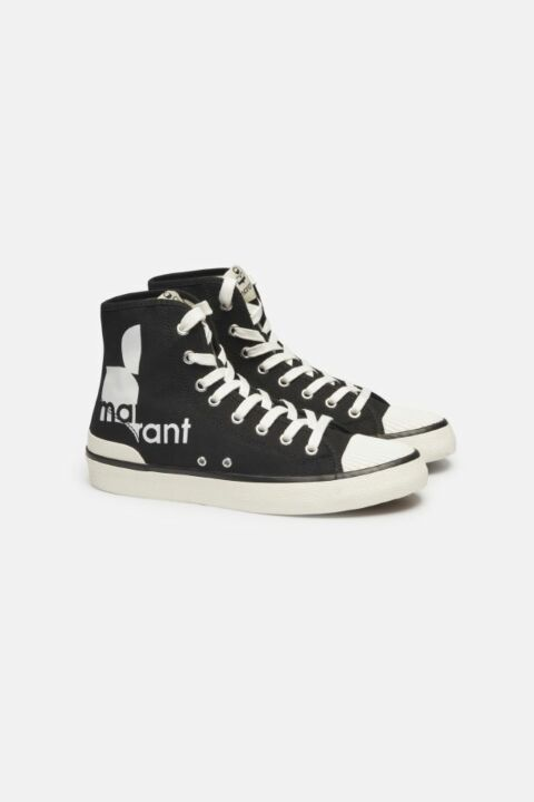 CANVAS HIGH TOP LACE SNEAKERS
