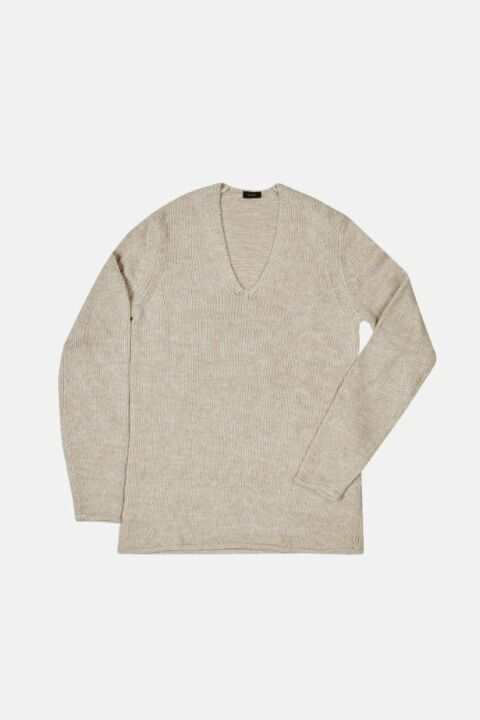 COTTON BLEND V NECK JUMPER