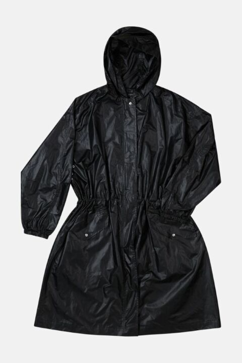 COATED LONG HOODED RAINCOAT
