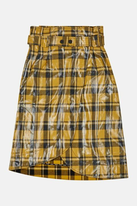 COATED TWILL SKIRT