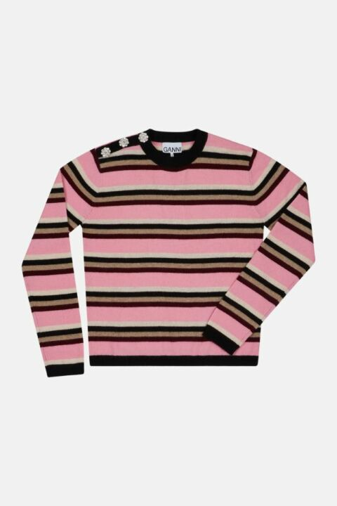 CASHMERE STRIPED CREWNECK