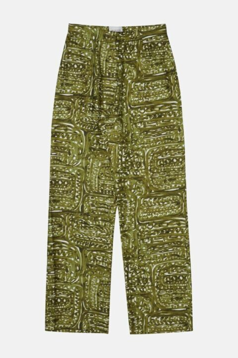 WIDE LEG FLUID SILK PANTS