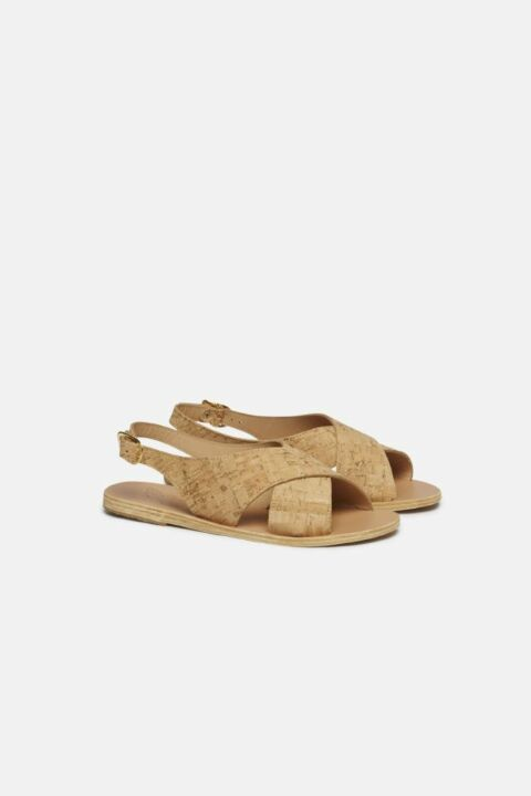 CORK CROSSOVER SANDALS