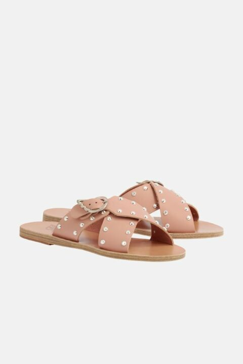 STUDDED METALLLIC SANDALS