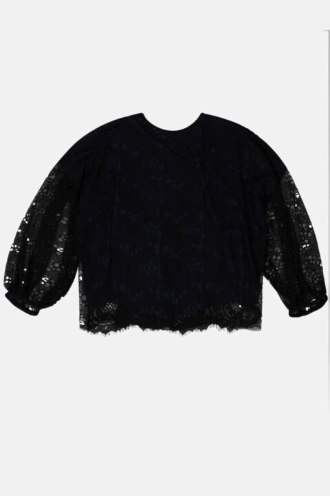 LONG SLEEVE TOP IN LACE DETAIL