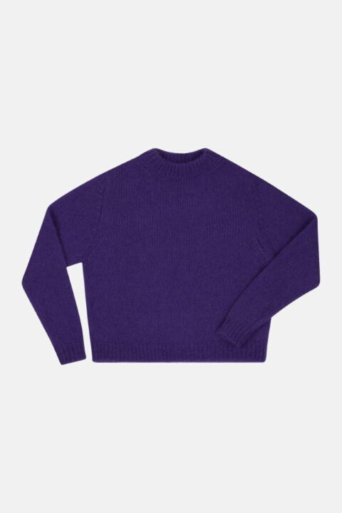 CROPPED RELAX MOHAIR SWEATER