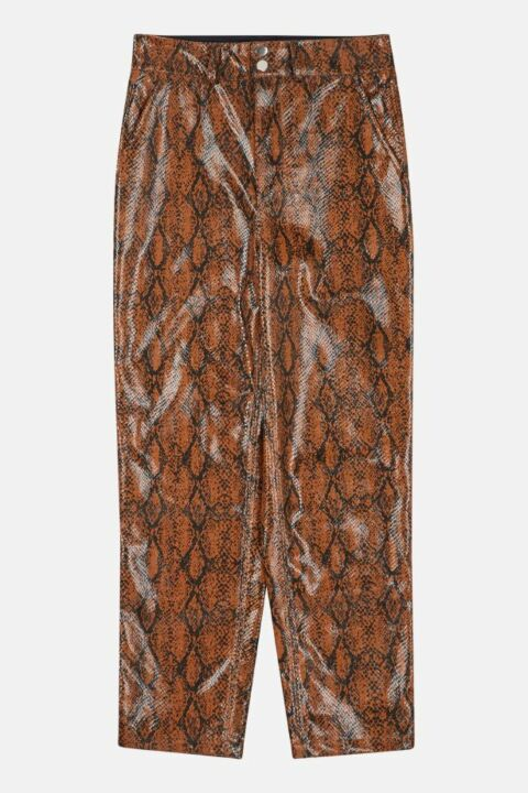 PANTS WITH SNAKESKIN PRINT