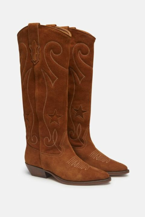 COWBOY BOOTS IN NUBUCK LEATHER