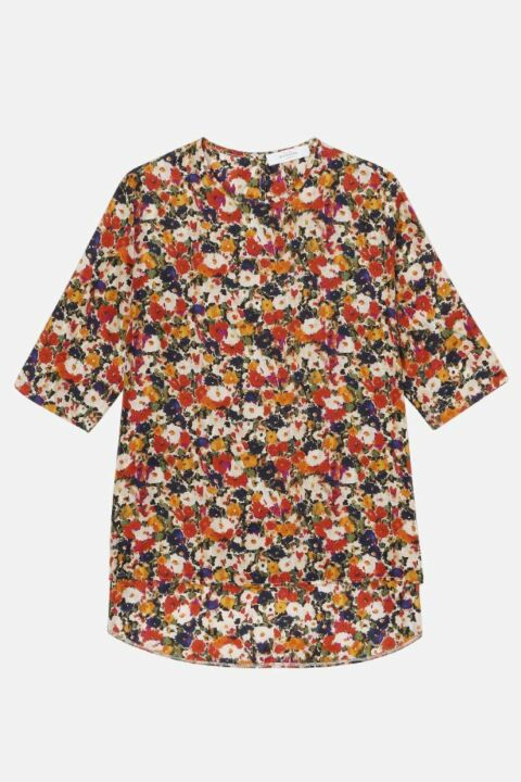 SILK BLOUSE WITH FLOWERS