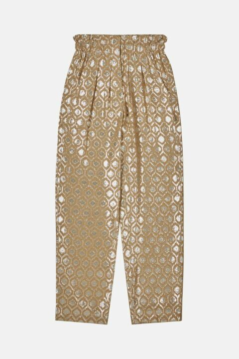 SILK AND LUREX BLEND TROUSERS
