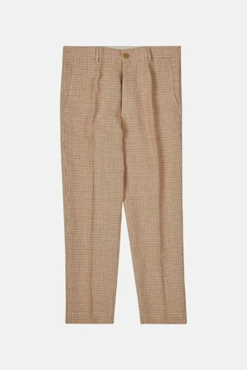 HANDCRAFTED LINEN VICHY PANTS