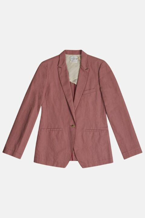COTTON LINEN STRUCTURE JACKET