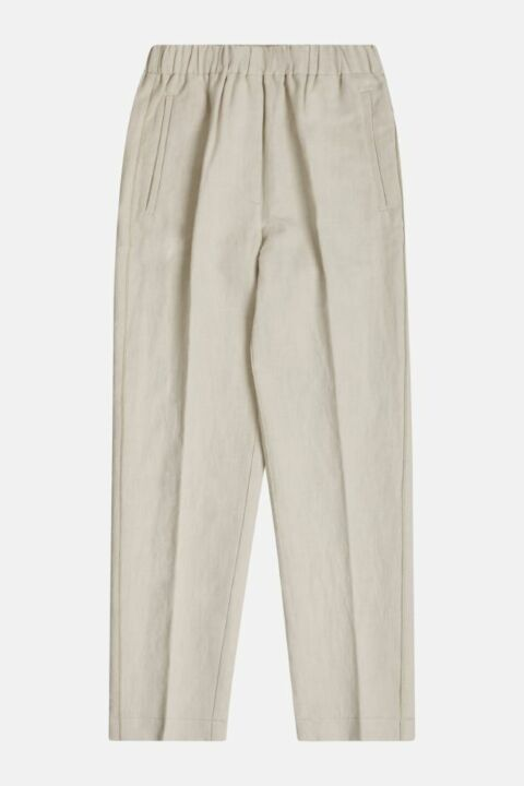 COTTON LINEN STRUCTURE PANTS