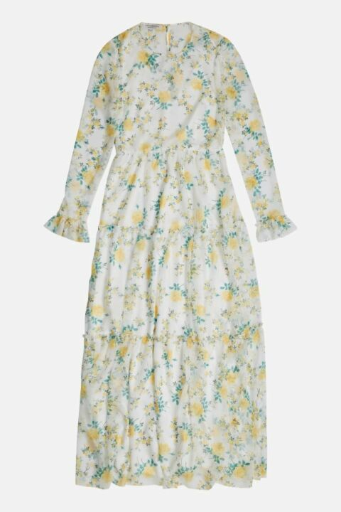 LONG DRESS WITH FLOWER PRINT