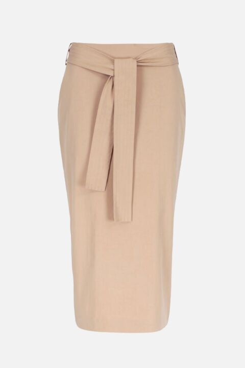 MIDI STRAIGHT SKIRT WITH SLIT