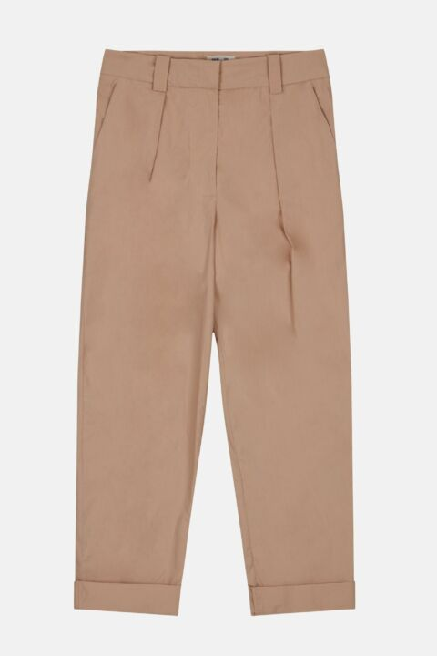 COTTON HIGH RISE TROUSERS