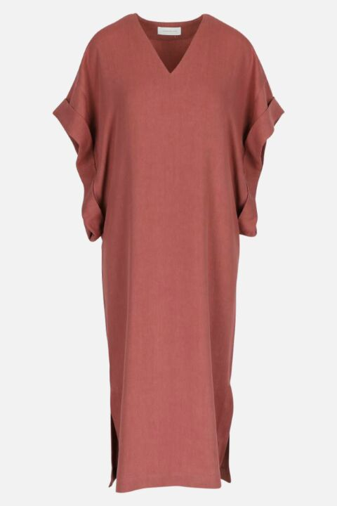 DRESS WITH ROLLED SLEEVES