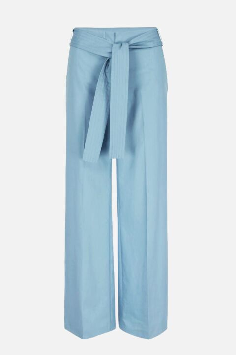 TROUSERS WITH QUILTED BELT