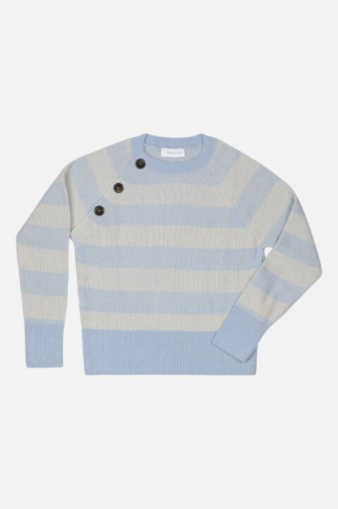 STRIPED KNIT WITH SIDE BUTTONS