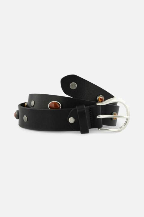 Thin belt with stones