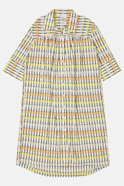 CHECKED LONG SHIRT DRESS