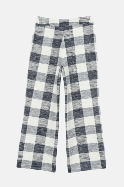 CHECKED 7/8 TROUSERS