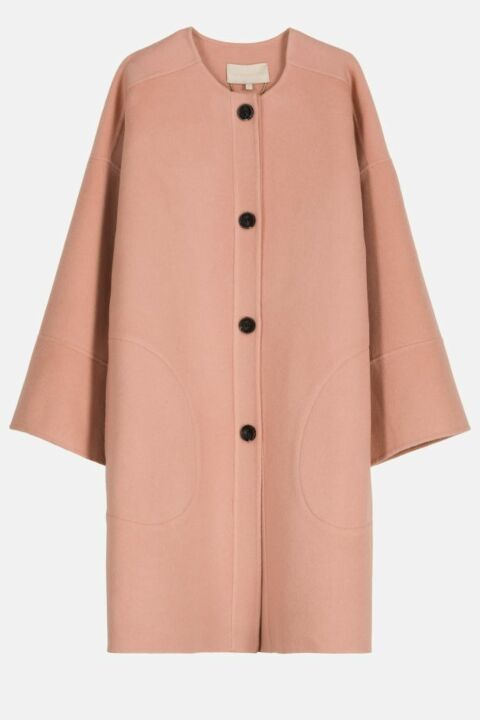 ROUND NECK COLLAR COAT