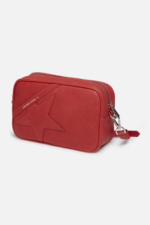 RECTANGULAR LEATHER LOGO BAG