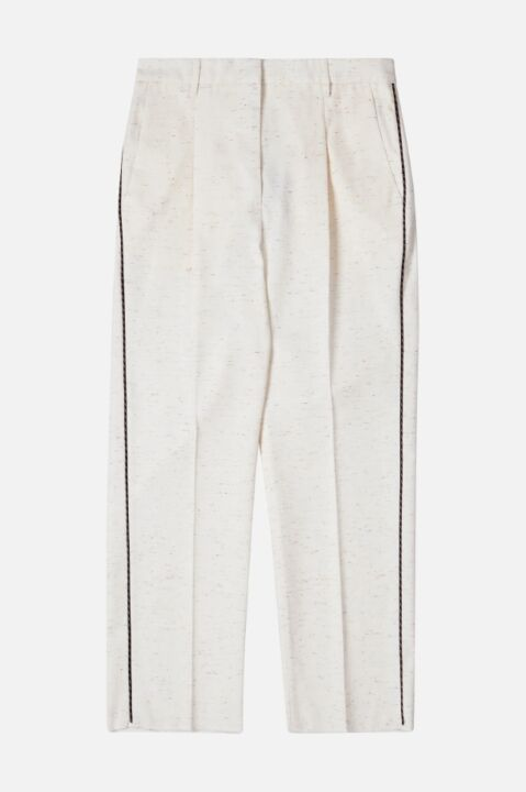 Chino pants with side detail