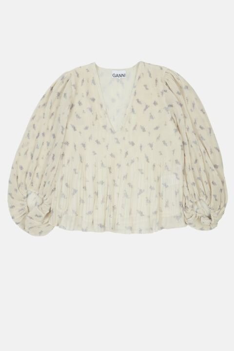 OFF WHITE BLOUSE WITH V NECK