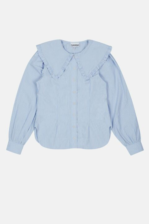 COTTON FRILL COLLAR SHIRT