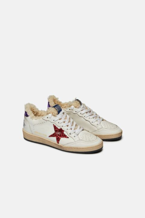 Ball star leather wool sneaker
