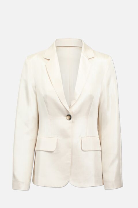 Blazer with single button
