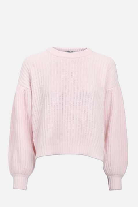 Soft pink knitted jumper