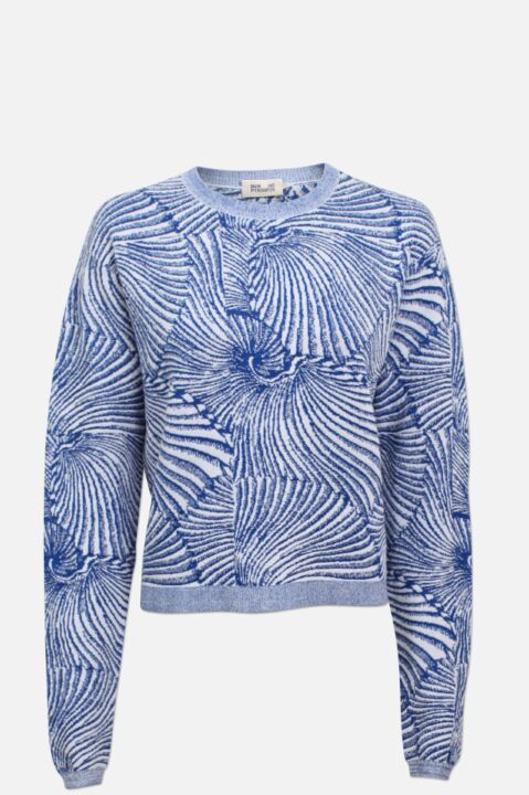 Shell print knitted jumper