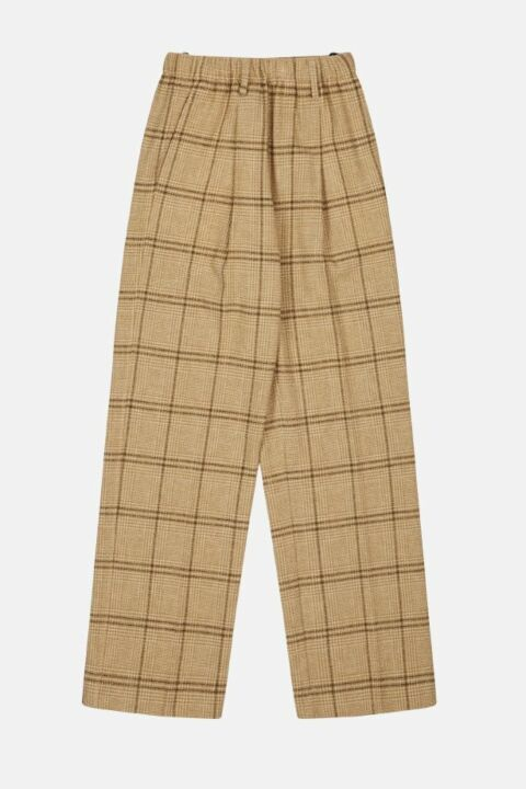 Checked camel trouser