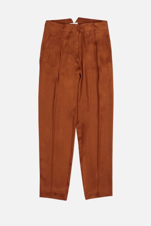Cannella colored silk trousers