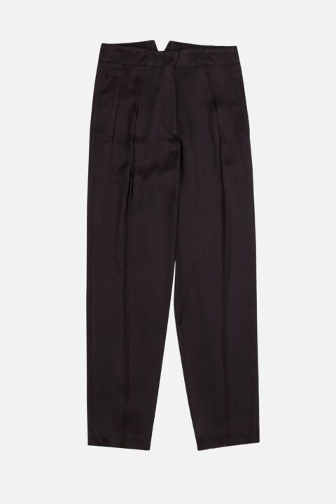 Nero colored silk trousers